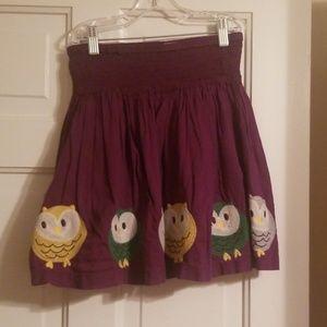 Mini Boden Owl Skirt